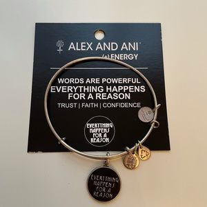 Alex And Ani 'Everything Happens' Silver Bracelet